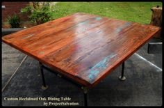 Hey, I found this really awesome Etsy listing at https://www.etsy.com/listing/201128317/custom-reclaimed-oak-dining-table