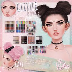 Glitter Gel Nails, Glitter Hair, Sims 4 Cas, Sims Cc, Glitter Timberlands, Glitter Roots, The Sims 4 Packs, Pastel Outfit, Sims 4 Clothing