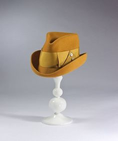 Dapper 'Drake' Fedora Hat in Butternut by HouseofNinesDesign