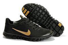 on sale 29257 89871 Nike Free 3.0 V2 Mens Running Shoe Black Gold Nike Free Run 3, Running Shoes