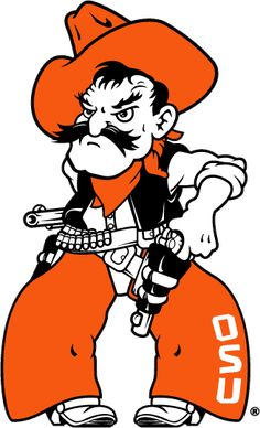 The Secondary Logo of the Oklahoma State Cowboys (NCAA n-r) from 2001-Pres