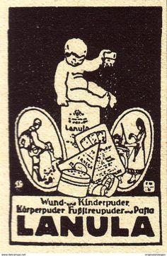 Original-Werbung/ Anzeige 1924 - LANULA PUDER - Ca. 35 X 50 Mm - Werbung