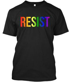 Resist Nationnal Equality March T Shirt Black T-Shirt Front