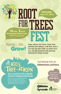 Root for Trees Fest Saturday, June 15, 2013