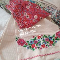 Embroidery Neck Designs, Embroidery Suits Design, Embroidery Fashion, Embroidery Patterns, Hand Embroidery, Punjabi Suits Designer Boutique, Boutique Suits, New Style Suits, Beautiful Dress Designs