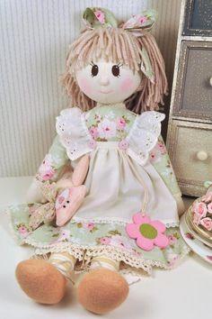 Holly Rag Doll Pattern - PDF