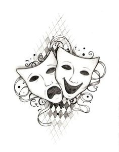 This is the drama tat I want to get. Only no checkered background.