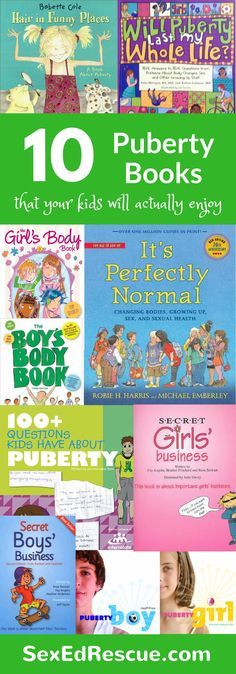 Puberty books are a great way to start talking about the big changes that are coming your way! Here are 10 favourites for you and your child to read!
