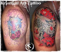 Krisztian Art Tattoo - Cover up tattoo Koi Fish