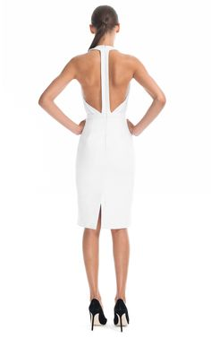 Cushnie et Ochs Stretch Leather and Georgette Dress ... beautiful backs