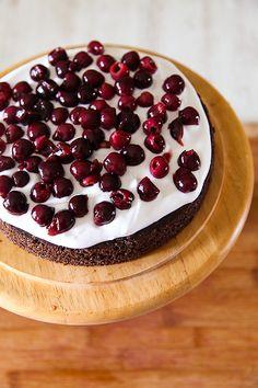 Eggless Black Forest Cake   DivineTaste Kiwi Cake, Mango Cake, Cake Tins, Box Cake, German Black Forest Cake, Cake Base Recipe, Chocolate Shavings, Almond Cakes, Round Cakes