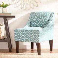 Zipcode Design Trellis Swoop Chair in Turquoise & Reviews | Wayfair