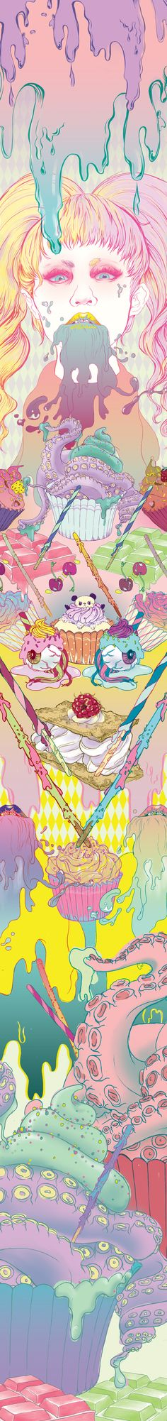 the kawaii life by Gillian Toh , via Behance