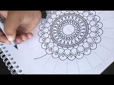 Como hacer mandala con detalles y tips | How to draw mandala speed draw - YouTube
