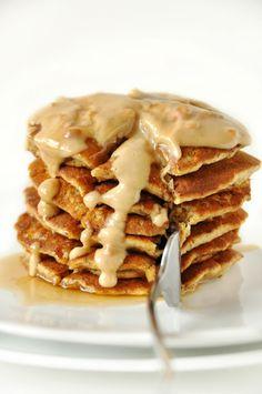 #Vegan Peanut Butter Flaxseed Pancakes ...