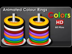 Learn Colors with ANIMATED Rings, Teach Colours, Baby Children Kids Learning Videos by Baby Rhymes - YouTube