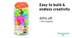 """Help me drop the price of the ALEX Toys Baby Builder to $11.99 (60% off). The price continues dropping as more moms click """"Drop the price"""". Moms drop prices of kids & baby products by sharing them with each other."""