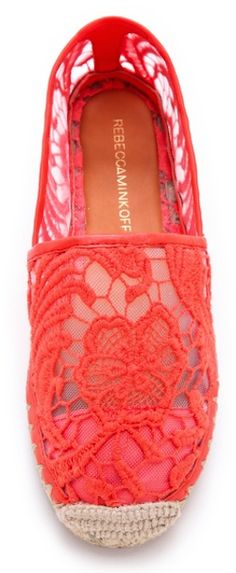 Rebecca Minkoff #red lace espadrilles http://rstyle.me/n/mbxqrr9te