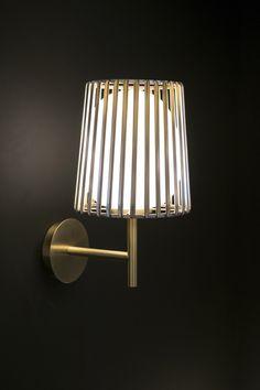 Julia wall lamp for Quasar Holland made of brass and white glass by Daniel Becker Design Studio Berlin