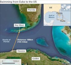 Satellite image of the Straits of Florida