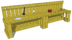 Pallet Mud Kitchen Instructions