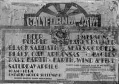 California Jam  April 6, 1974  Ontario Motor Speedway    Didn't go to this particular California Jam but I remember going to one in later years...fun times.