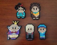 Wreck It Ralph Inspired 8 Bit Magnet or Ornament Set