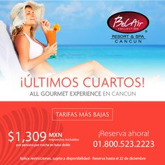 Hotel in Cancun to fall in love, to relax and to rejuvenate! Bel Air Collection Resort & Spa Cancun invites you to meditation and serenity. Bel Air, Cancun Hotels, Most Beautiful Beaches, Resort Spa, Vacation, Waiting, Opportunity, December, Quartos