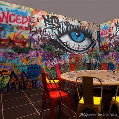 3d Stereo Custom Street Art Retro Brick Wall Graffiti Mural Dance Studio Bar Cafe Living Room Ktv Wallpaper Mural Free Wallpaper Hd Free Wallpaper Hd Widescreen From Luxurylifestle, $24.87| Dhgate.Com