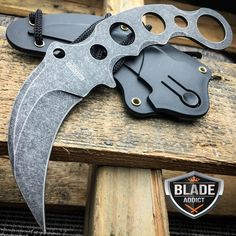 TACTICAL STONEWASH COMBAT KARAMBIT NECK KNIFE Survival Hunting BOWIE Fixed Blade | Collectibles, Knives, Swords & Blades, Collectible Fixed Blade Knives | eBay!