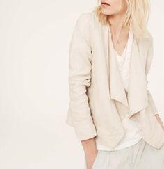 Petite Lou & Grey Linen Cardi-Jacket   Hukkster