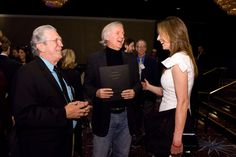 Visual effects supervisor Richard Edlund, James Cameron, and Kathryn Bigelow at the Academy of Motion Picture Arts and Sciences' Oscar Nominees Luncheon at the Beverly Hilton Hotel in Beverly Hills on Monday, February 15, 2010.