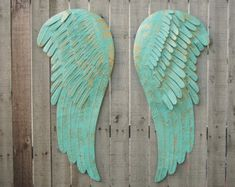 Shabby Chic Wall Decor Angel Wings Large by TheVintageArtistry