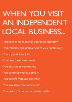 Why #local #shopping? #Exclusife
