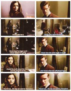 She Said, He Said. Prequel to The Name of The Doctor OHMYGOSH! OHMYGOSH! OHMYGOSH! Ahhhhhhhhhhhhhhhhhhhhhhhhhhhhhhhhhhhhh
