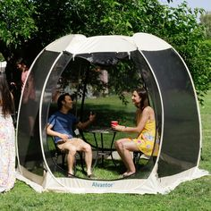 Screen House Outdoor Pop Up Canopy Tent Patented – Alvantor Backyard Camping, Tent Camping, Outdoor Camping, Glamping, Screened Gazebo, Patio Gazebo, Outdoor Gazebos, Canopy Outdoor, Outdoor Spaces