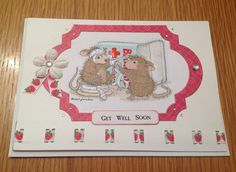 Get well card, house mouse