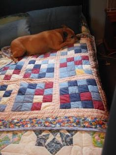 Darla on her new quilt