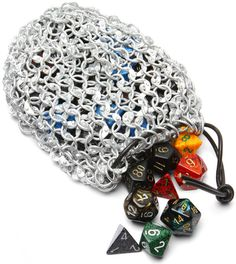 ThinkGeek :: Chain Mail Gaming Dice Bag