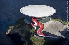 MAC : Museu de Arte Contemporânea de Niterói, Rio de Janeiro Brazil (1996)   Oscar Niemeyer   Leonardo Finotti Architectural Photographer