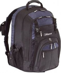 Targus XL Backpack Designed for 17 Inch Notebooks (Black with Blue Accents)  (Personal Computers) 3650dcdcf2