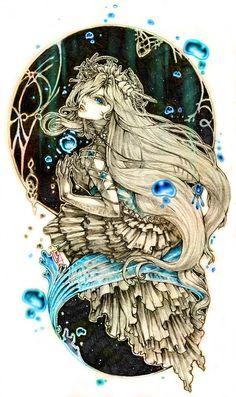 """Pisces:  """"Water,"""" by Amdhuscias, at deviantART."""