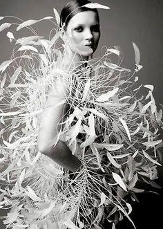 Kate Moss photographed by Satoshi Saikusa for W Magazine, 1995.