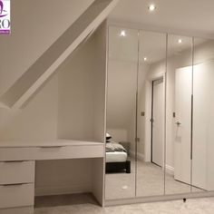 Artistic designs can elevate the beauty of any room and here is one of our designs which is composed of Alpine white desk and huge mirrored wardrobe to amplify the elegance of your room. Make use of every single inch of space in your bedroom with fitted wardrobes. Book an appointment now! Call us at 02034883357 .