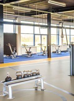 Linoleum sali sport omisports Tarkett Compact, Flooring, Interior, Sports, Design, Hs Sports, Indoor, Sport, Interiors