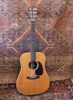 The Martin D28. Probably the most famous acoustic guitar model ever. This one is from 1968.