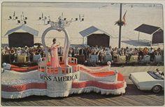 1960s ATLANTIC CITY Boardwalk New Jersey Shore Parade MISS AMERICA PAGEANT vintage postcard by Christian Montone, via Flickr