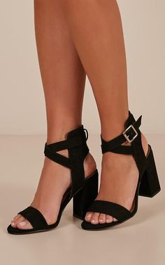 27c6d62db183 Therapy - Collins Heels in black micro