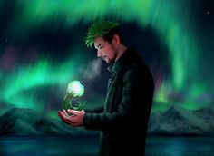 naoki-h: Another Jacksepticeye drawing. :D Now he is with a glowing little Sam! :D therealjacksepticeye: So magical :D thank you!