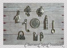 Antique Bronze Teatime Teapot Charms 15pcs Steampunk Vintage Pendants Kitsch